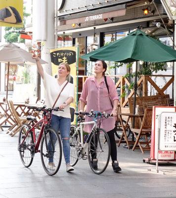 租一輛自行車,探索宇都宮的城堡遺址公園